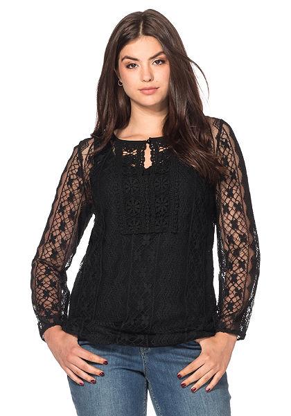 sheego Style Krajkové tričko