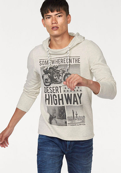Tom Tailor Denim Mikina s kapucí »Desert Highway«
