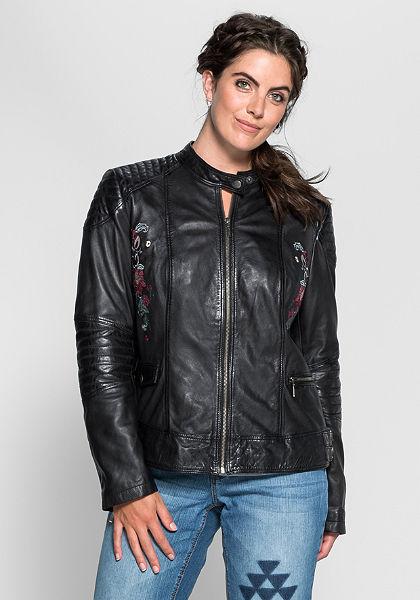 Joe Browns Kožená bunda v motorkářském stylu