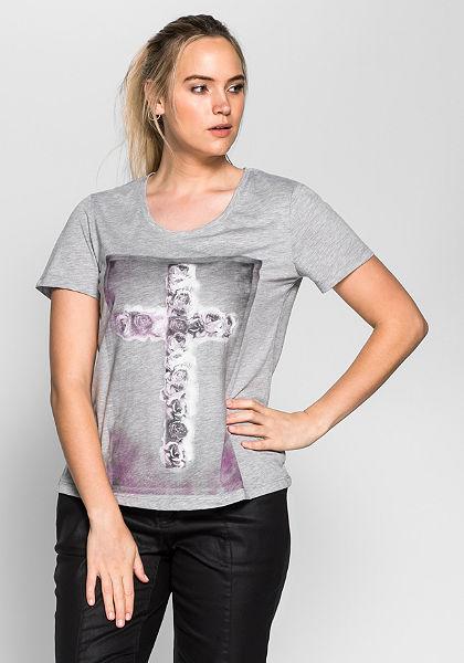 sheego Trend nyomott mintás póló