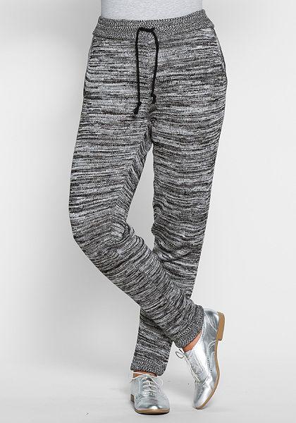 sheego Trend kötött nadrág gumis derékrésszel