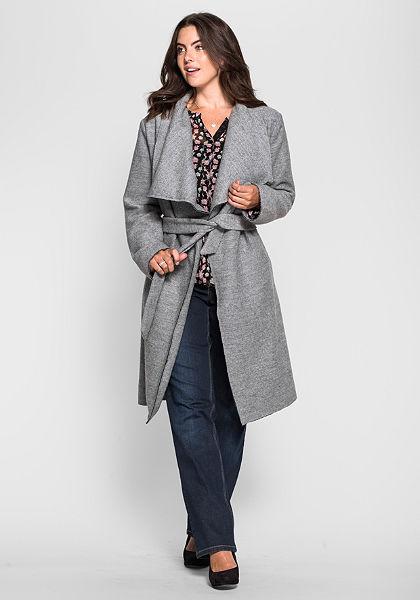 sheego Style Kabát s velkým límcem
