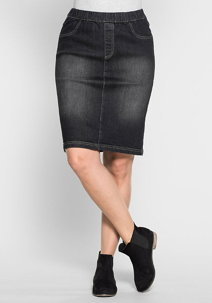 sheego Trend Džínová sukně