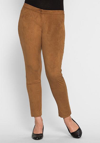 sheego StyleKalhoty z Imitace kůže