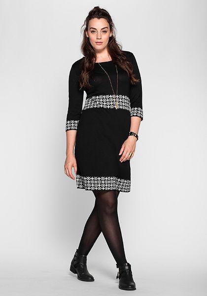 sheego Trend Pletené šaty