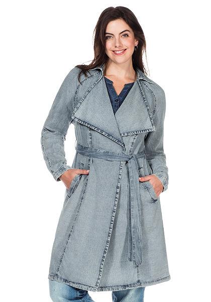 sheego Trend Džínový kabát