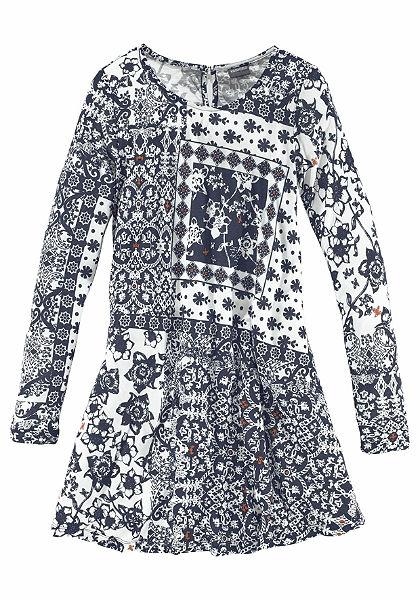 KIDSWORLD Šaty v štýle patchwork, pro dívky