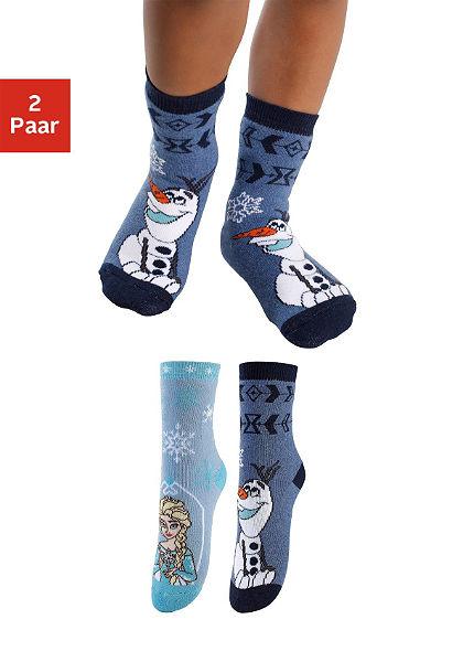 Frozen Detské ponožky (2 páry) s rôznymi motívmi