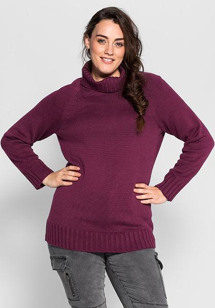 sheego Casual garbónyakú kötött pulóver