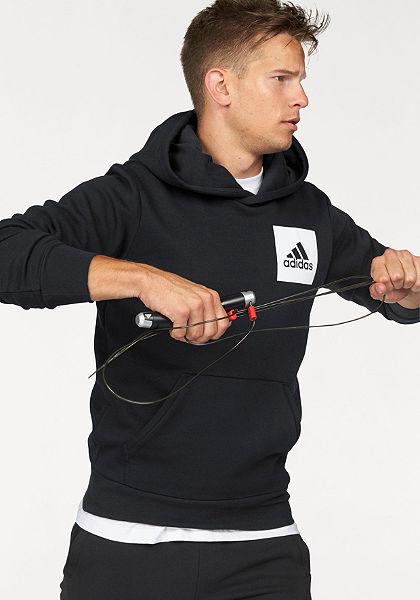 adidas Performance kapucnis hosszú ujjú felső »ESSENTIALS CHEST LOGO PULLOVER HOOD FLEECE«
