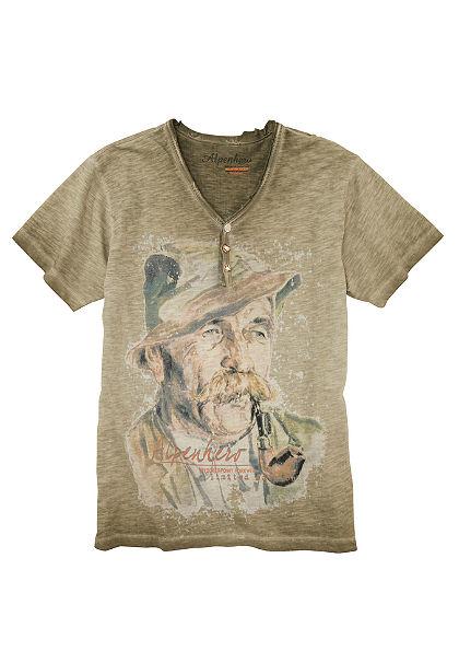 Stockerpoint Pánske krojové tričko spotlačeným motívom