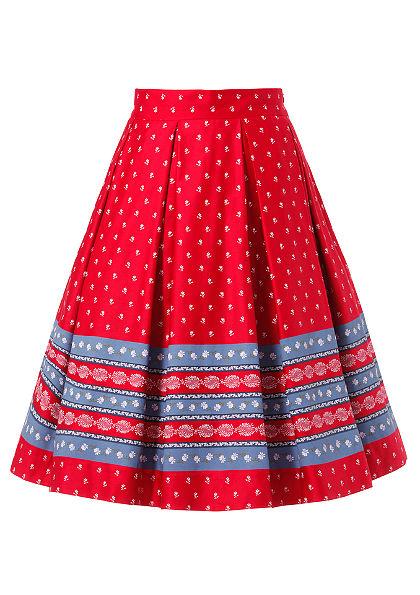 Turi Landhaus Krojová sukňa v kvetinovým vzorom