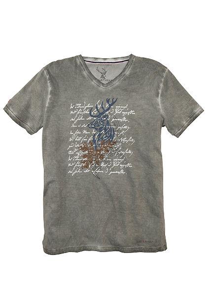 Spieth & Wensky Krojové pánske tričko s potlačou