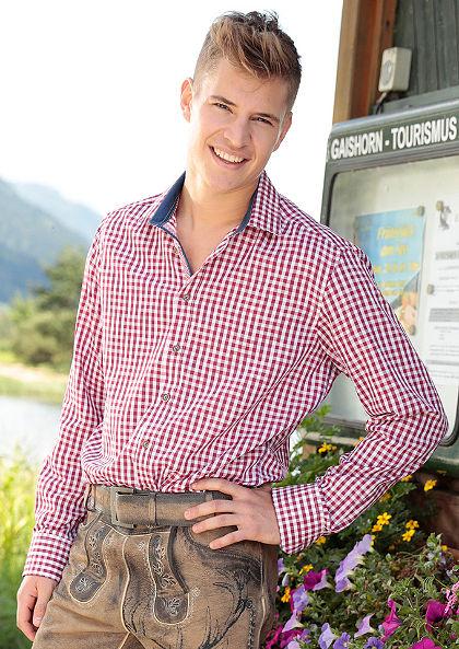 Pánska krojová košeľa skontrastným lemovaním, OS-Trachten