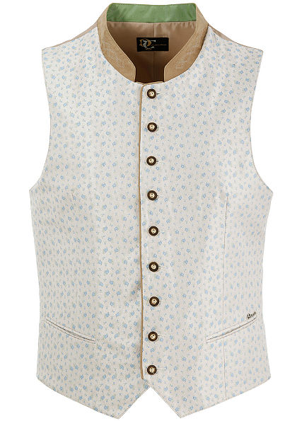 Turi Landhaus Pánska krojová vesta svtkaným kvetinovým vzorom