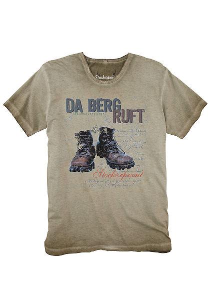 Stockerpoint Krojové pánske tričko s nápadnou potlačou