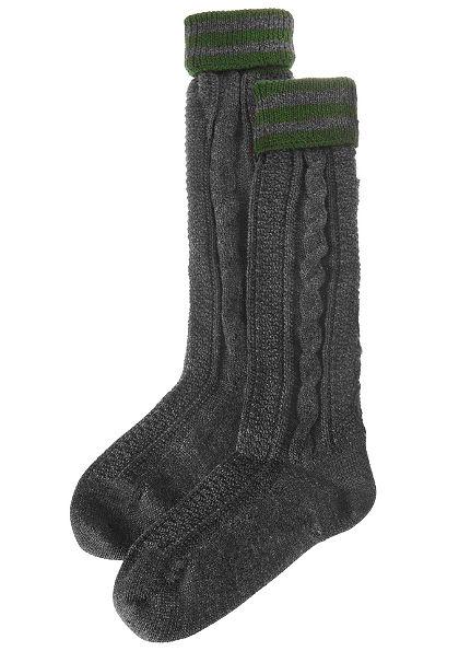 Lusana Pánské ponožky s copánkovým vzorem