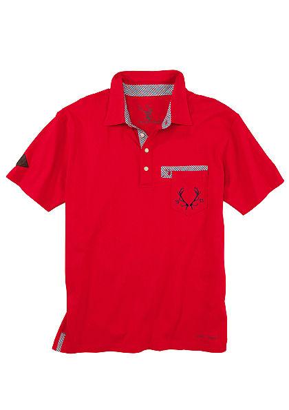 Spieth & Wensky Krojové pánske tričko s výšivkou hlavy jeleňa