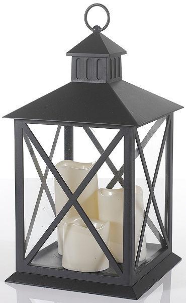 Lámpás 3 db LED-gyertyával (4 részes)