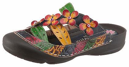 LAURA VITA Pantofle s hezkými květy