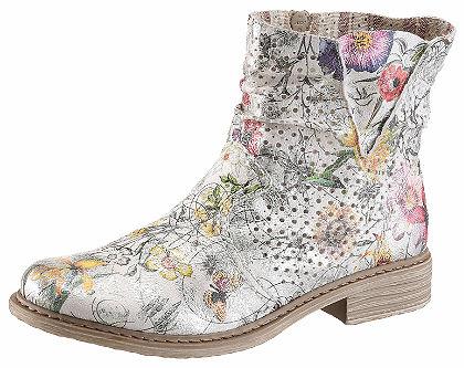 Rieker Letné topánky v kovovom vzhľade s farebnými zvýrazneniami