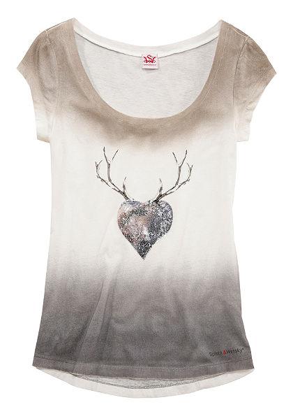 Spieth & Wensky krojová tričko v obnošeném vzhledu