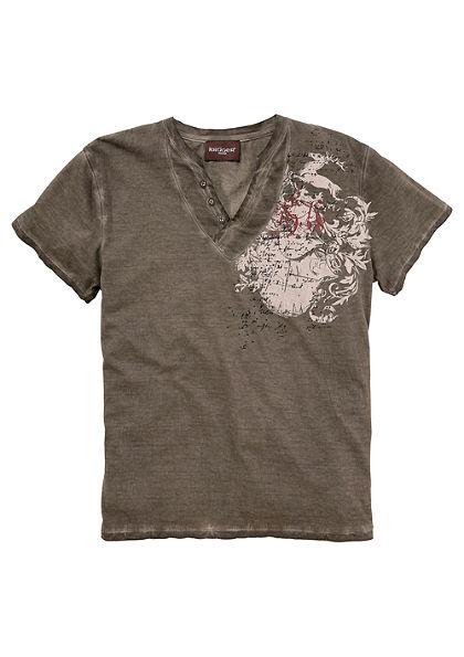 Krüger Buam Krojové pánske tričko sozdobnými gombíkmi