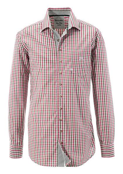 OS-Trachten Krojová košeľa s kontrastnými manžetami