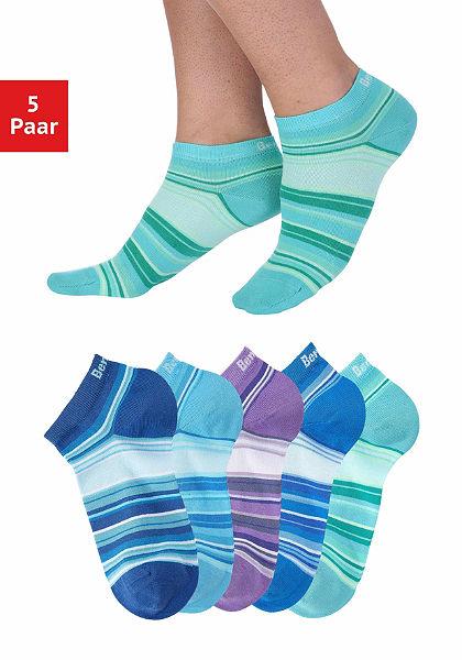 Bench sneaker zokni csíkos (5 pár) pasztell színekben