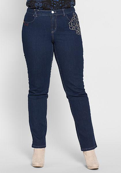 Joe Browns Rovné strečové džínsy s výšivkami