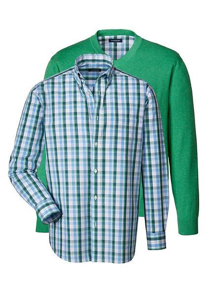 Highmoor szett: népviseleti pulóver és kockás ing kíváló minőségben
