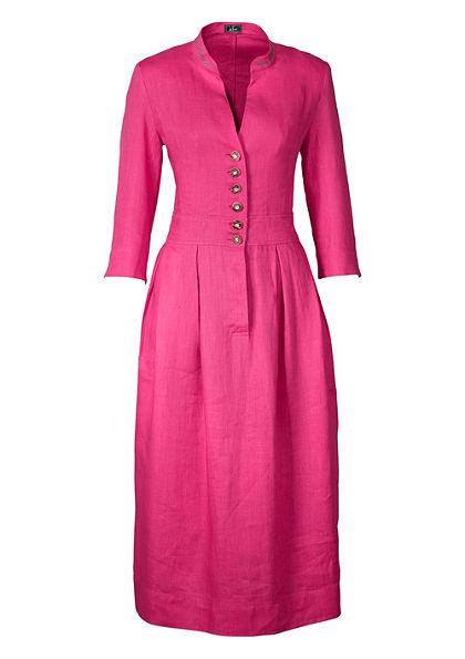 Luis Steindl Krojové ľanové šaty svýšivkou