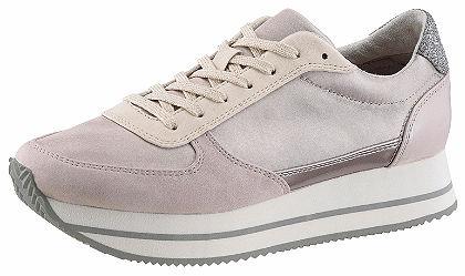 Tamaris magasított talpú sneaker cipő textilből és műbőrből
