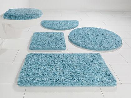Fürdőszobaszőnyeg, félkör, my home, »Sanremo«, magasság 30mm, mikroszálas, csúszásgátlós hátoldal