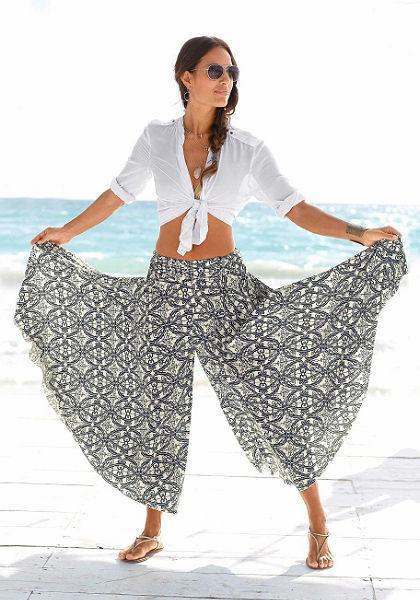 LASCANA Nohavicová sukně s extra širokou nohavicí