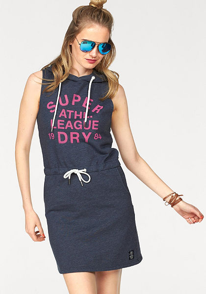 Superdry Bavlnené šaty »ATHL. LEAGUE LOOPBACK DRESS«
