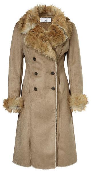 RICK CARDONA by heine Koženkový kabát s golierom z umelej kožušiny