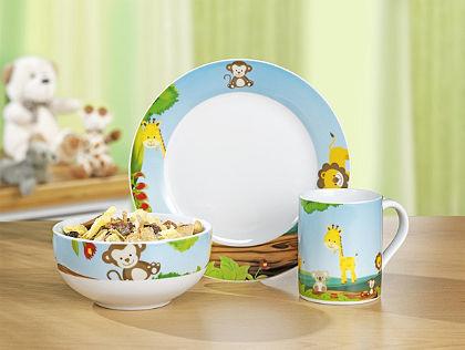 Esmeyer Detská jedálenská súprava, 3-dielna porcelánová súprava »SUNNY«
