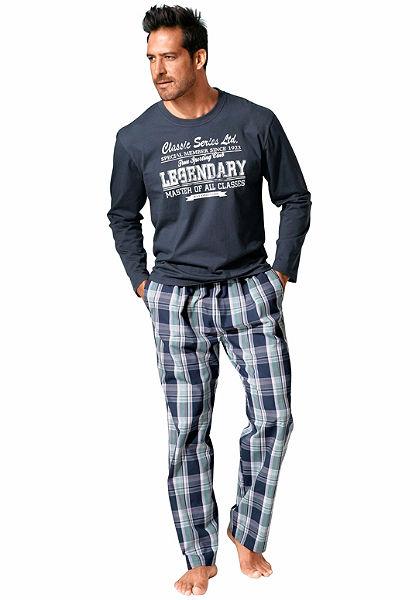 H.I.S Pyžamo dlouhé, kostkované kalhoty