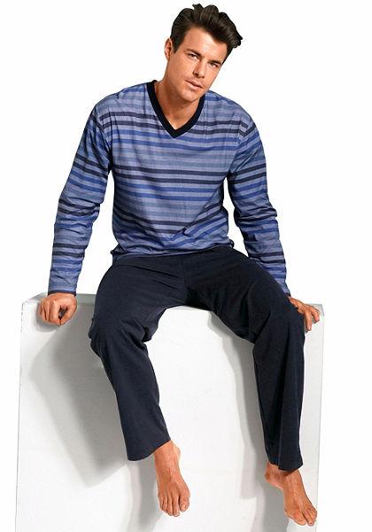 s.Oliver RED LABEL Bodywear Pyžamo dlouhé s barevnými proužky
