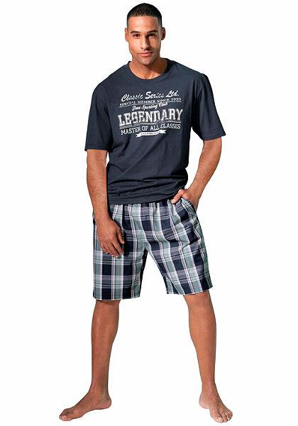 H.I.S Pyžamo krátké, kostkované kalhoty