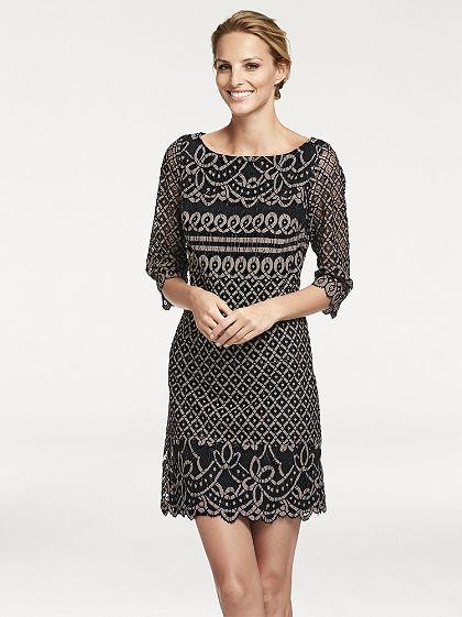 ASHLEY BROOKE by heine Čipkované šaty, klasický strih.