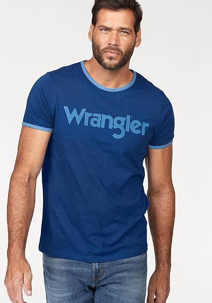 Wrangler Tričko, potlač loga na hrudi