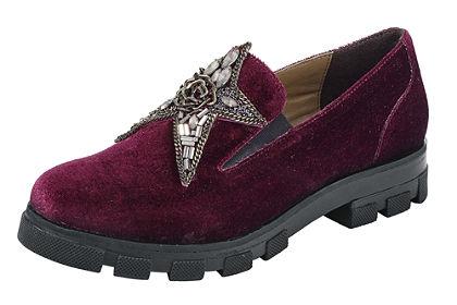 XYXYX Nazúvacie topánky zo zamatu