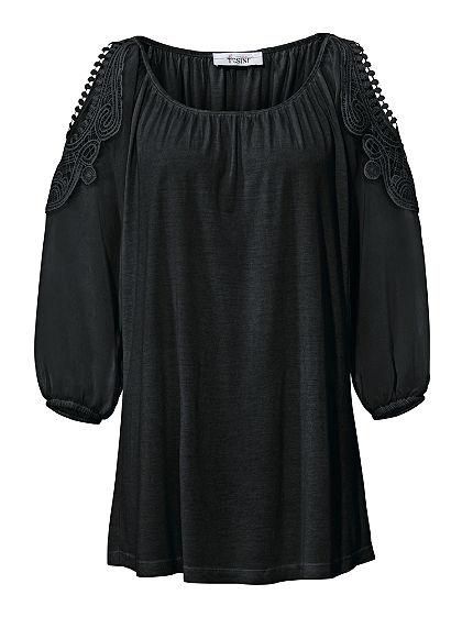 LINEA TESINI by heine Blúzkové tričko s čipkou