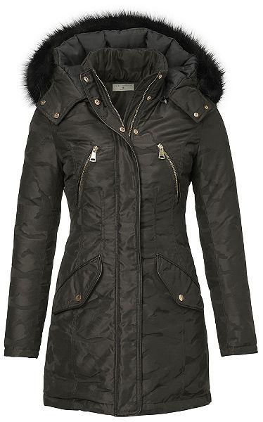 RICK CARDONA by heine Prechodný kabát, odnímateľná kapucňa slemom z umelej kožušiny v2 farbách