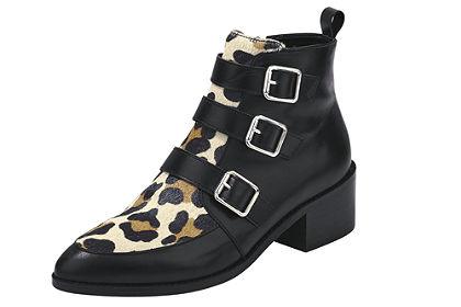 heine Krátke čižmy so vzorom leopardí