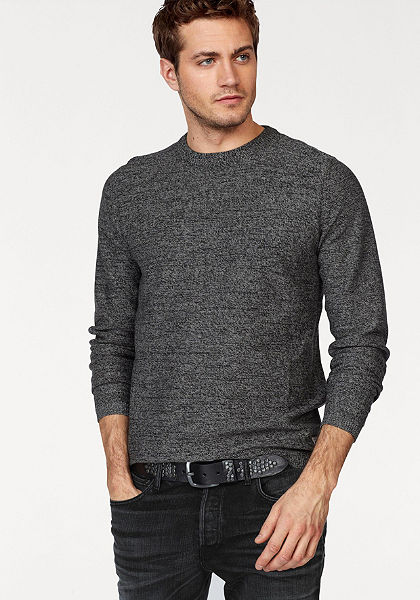 Jack & Jones Pletený pulovr »JORBLEND KNIT CREW NECK«