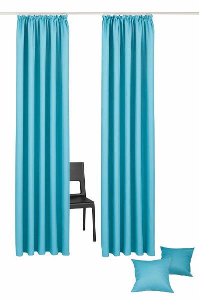 Záclona, My Home Selection »Amla« riasiaca páska (2 ks) + obliečka na vankúš
