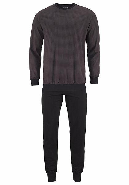 Schiesser Pánska dlhá pyžama s manžetami